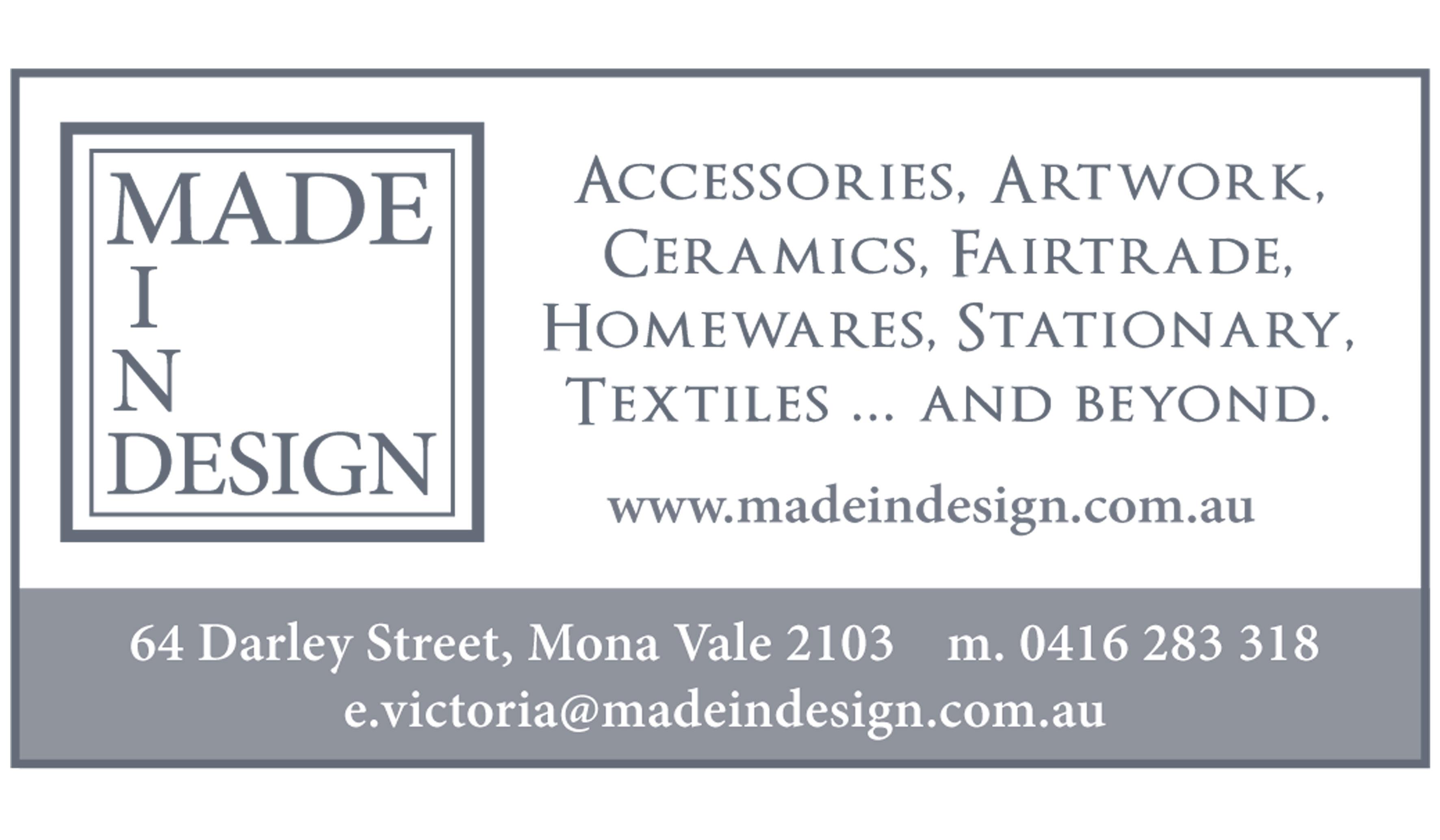 Vicki Ratcliff Artist Pittwater Artists Trail Madein Design Advert Image