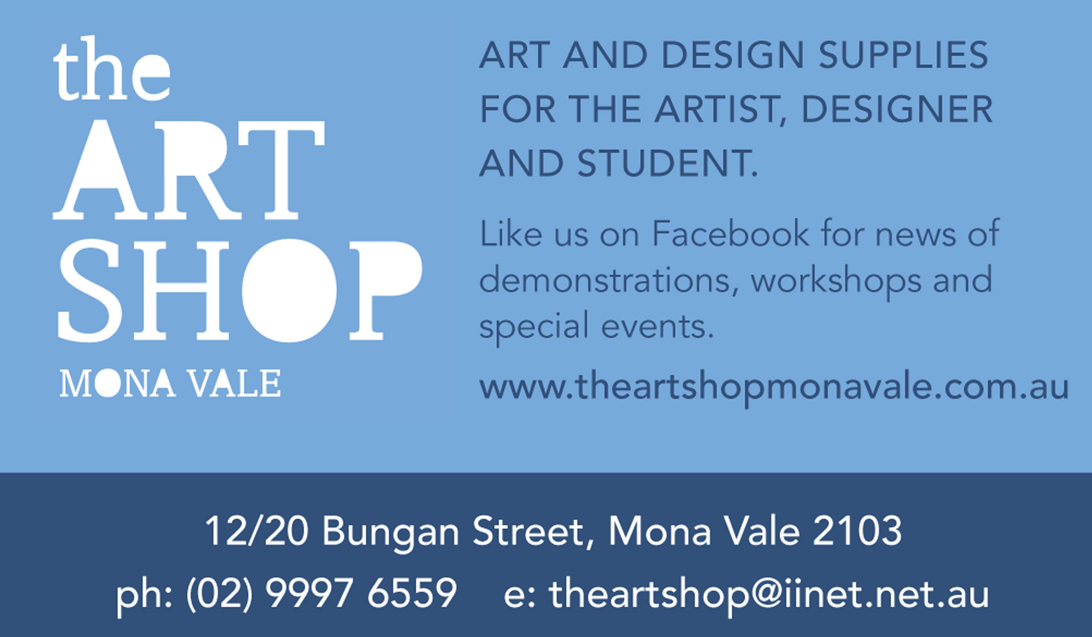 Vicki Ratcliff Artist Pittwater Artists Trail The Art Shop Advert Image