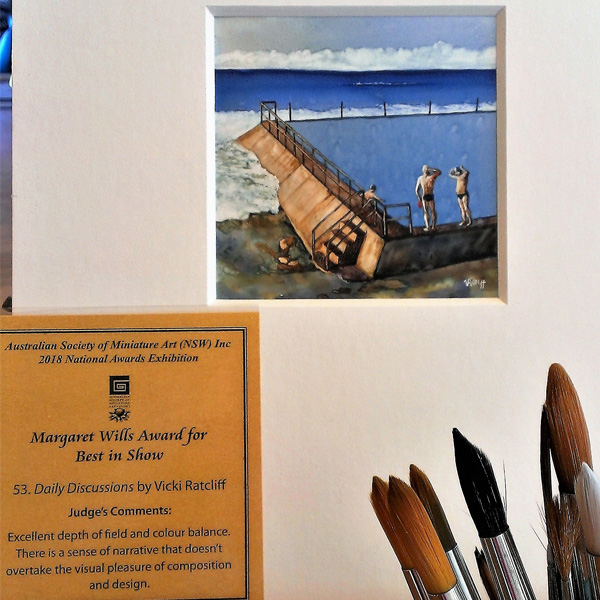 Vicki Ratcliff Miniature Watercolour Daily Discussions Award Image